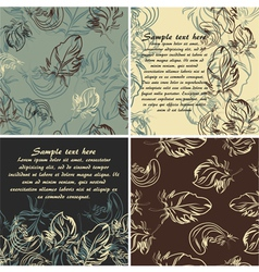 Set of cards and seamless patterns vector