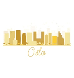 Oslo city skyline golden silhouette vector