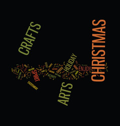 Arts and crafts for christmas text background vector