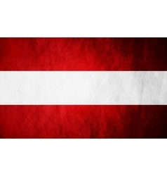 Austrian grunge flag background vector