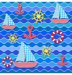 baby seamless sea pattern vector image