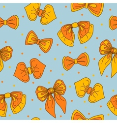 Bow-tie collection seamless pattern vector