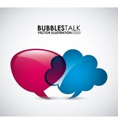 bubbles talk vector image
