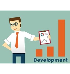 Businessman and development productivity vector image