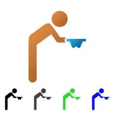 Child beggar flat gradient icon vector