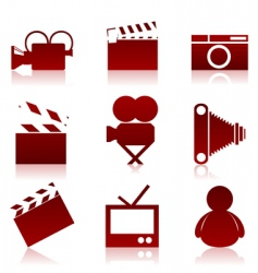 cinema icons2 vector image vector image