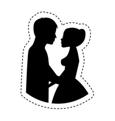couple of newlyweds character vector image