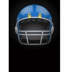 Dark Background of american football helmet vector image vector image