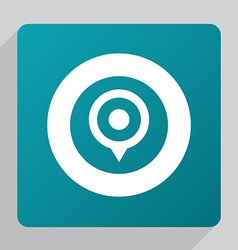 flat map pin icon vector image