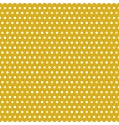 Gold seamless pattern with white dots vector