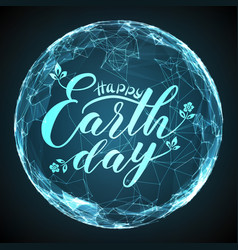 Happy earth day lettering on vector