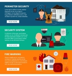 Home security horizontal banners vector