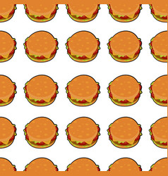isolated of delicious burger vector image vector image