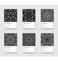 Mandala black and white graphic trendy vertical vector