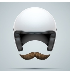 Motorcyclist symbol with mustache vector
