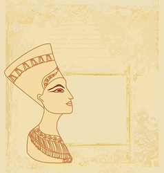 old paper with Egyptian queen cleopatra vector image