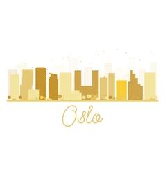 Oslo city skyline golden silhouette vector