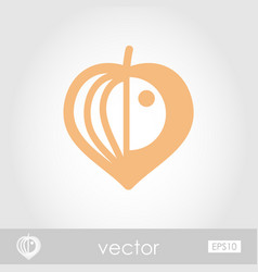 physalis berries outline icon vegetable vector image vector image
