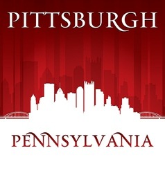 Pittsburgh pennsylvania city skyline silhouette vector