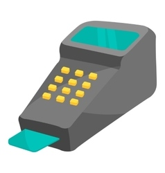 POS terminal icon cartoon style vector image