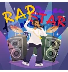 Rap Music Poster vector image