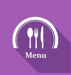 restaurant menu retro poster with a long shadow vector image vector image