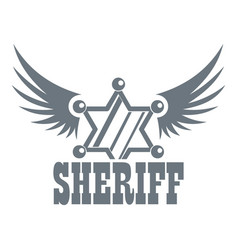 Sheriff logo vintage style vector