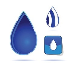Water drop color vector