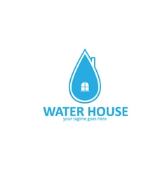 Water house logo vector