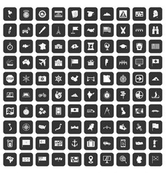 100 cartography icons set black vector