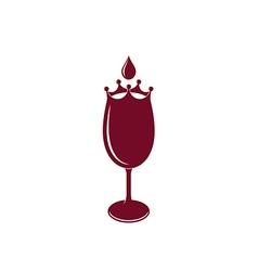 Wineglass logo vector