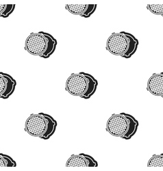 Manhole icon in black style isolated on white vector image