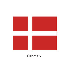 Denmark flag official colors and proportion vector