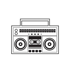 Ghetto blaster radio vector
