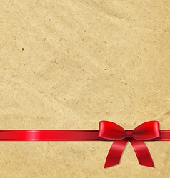 Old paper with red ribbon vector