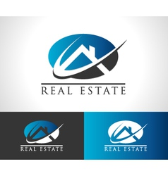 Real estate house logo icon vector