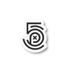 500px logo icon flat design vector