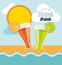 Dlicious drink vector