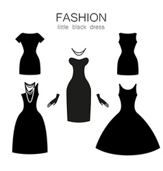 Black dress set vector