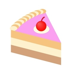Piece of cake isometric 3d icon vector