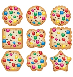 Set of cookies vector