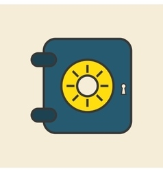 Strongbox icon design vector