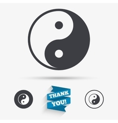 Ying yang sign icon harmony and balance symbol vector