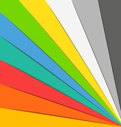Abstract background of color paper sheets Template vector image vector image
