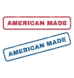 American made rubber stamps vector
