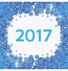 Background with blue snowflakes and text vector