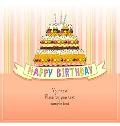 Birhday cake card vector