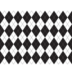 Black white argyle seamless pattern vector image