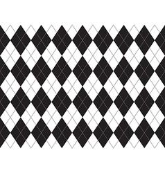 Black white argyle seamless pattern vector