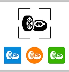 Car wheel icon on white background vector image